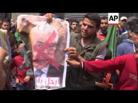 Hamas supporters rally against Abbas in Gaza