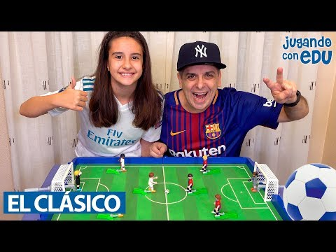 Partido BARCELONA vs REAL MADRID con Playmobil. EL CLÁSICO MÁS ÉPICO!