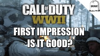 (PS4) Call Of Duty WW2: First Impression Is It Good?