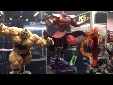 PCS Collectibles Booth Pop Culture Shock Toys Statues Street Fighter Power Rangers Dredd WonderCon