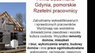 remonty mieszkań Gdynia, posadzki betonowe Gdynia, sufity podwieszane Gdynia