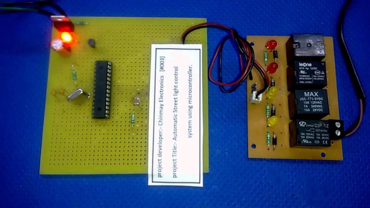 Automatic Street Light Project Using Microcontroller Youtube Rain Detector Circuit Diagram 8051