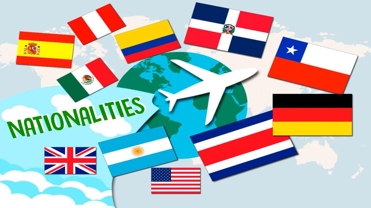Aprende En Ingles Las Nacionalidades Youtube