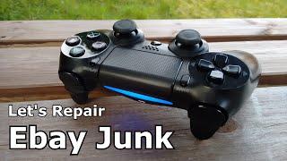 Let's Repair - Ebay Junk - Sony PS4 Controller - Hidden Hairs