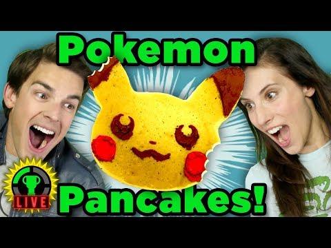 GTLive: Gotta COOK 'Em All! | Pokemon Pancake Art Challenge