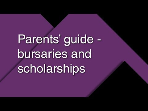Parents' guide – bursaries and scholarships 2017/18