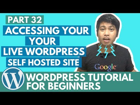 WordPress Tutorial for Beginners - Accessing your Live WordPress Self Hosted Site - Part 32