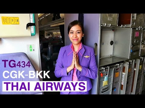 THAI AIRWAYS TG434 SMOOTH AS SILK JAKARTA TO BANGKOK