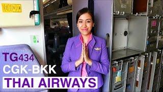 THAI AIRWAYS TG434 SMOOTH AS SILK JAKARTA TO BANGKOK