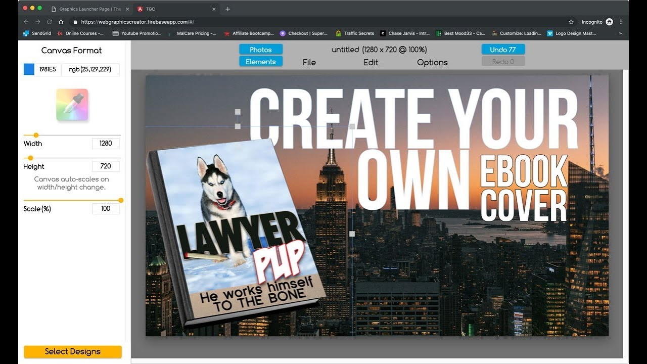 How To Make An Ebook Cover With Laughingbird Software Youtube