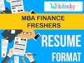 resume | mba finance fresher resume | sample resume | resume templates | c v templates