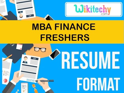 resume mba finance fresher resume sample resume resume templates c  v templates