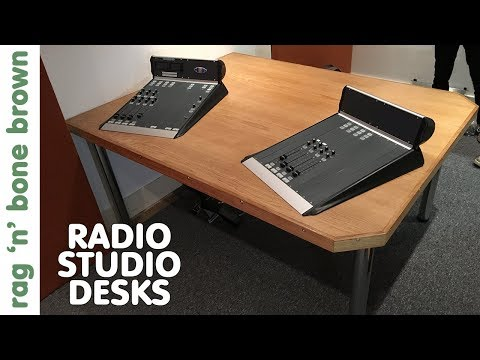 Making The Radio Station Studio Desks