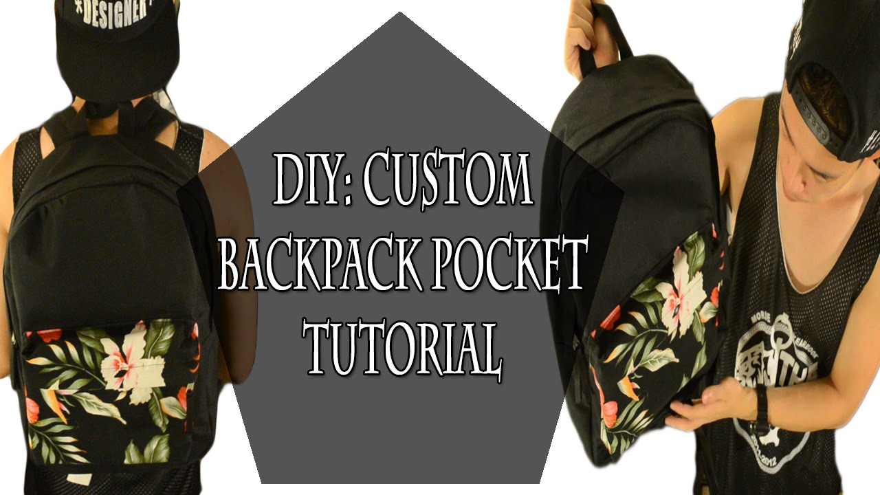 DIY: Custom Backpack Pocket Tutorial