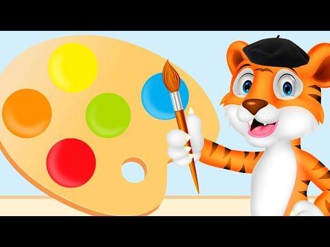 Kleuren Leren Nederlands 🎨 Educatieve Kinderfilmpjes 🖌️ Taal Leren Voor Peuters