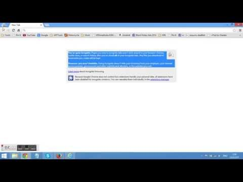 การท่องเน็ตที่ต้องการความเป็นส่วนตัว โดยใช้ Google Chrome Incognito mode