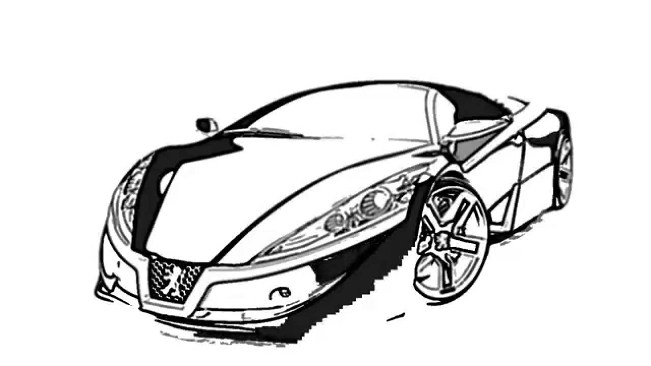 how to sketch or draw a stylish luxury car automobile - YouTube