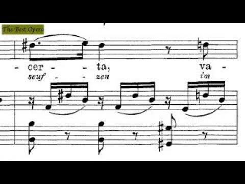 Delira dubbiosa, Lesson 5 (Nicola Vaccai) score animation, Soprano/Tenor, Karaoke