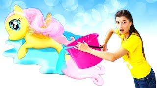 Майл Литл Пони иЭквестрия Герлз— Пони Флаттершай потерялась— Игры для девочек