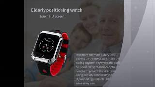 A20S elderly gps tracker watch tracking device ip67 waterproof heart rate monitor fall down alerts