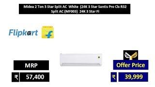 Midea 2 Ton 3 Star Split AC White (24K 3 Star Santis Pro Cls R32 Split AC (MF003) 24K 3 Star Fi