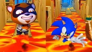 ГОВОРЯЩИЙ ТОМ ПОГОНЯ ГЕРОЕВ VS Sonic Dash БИТВА против БОССА