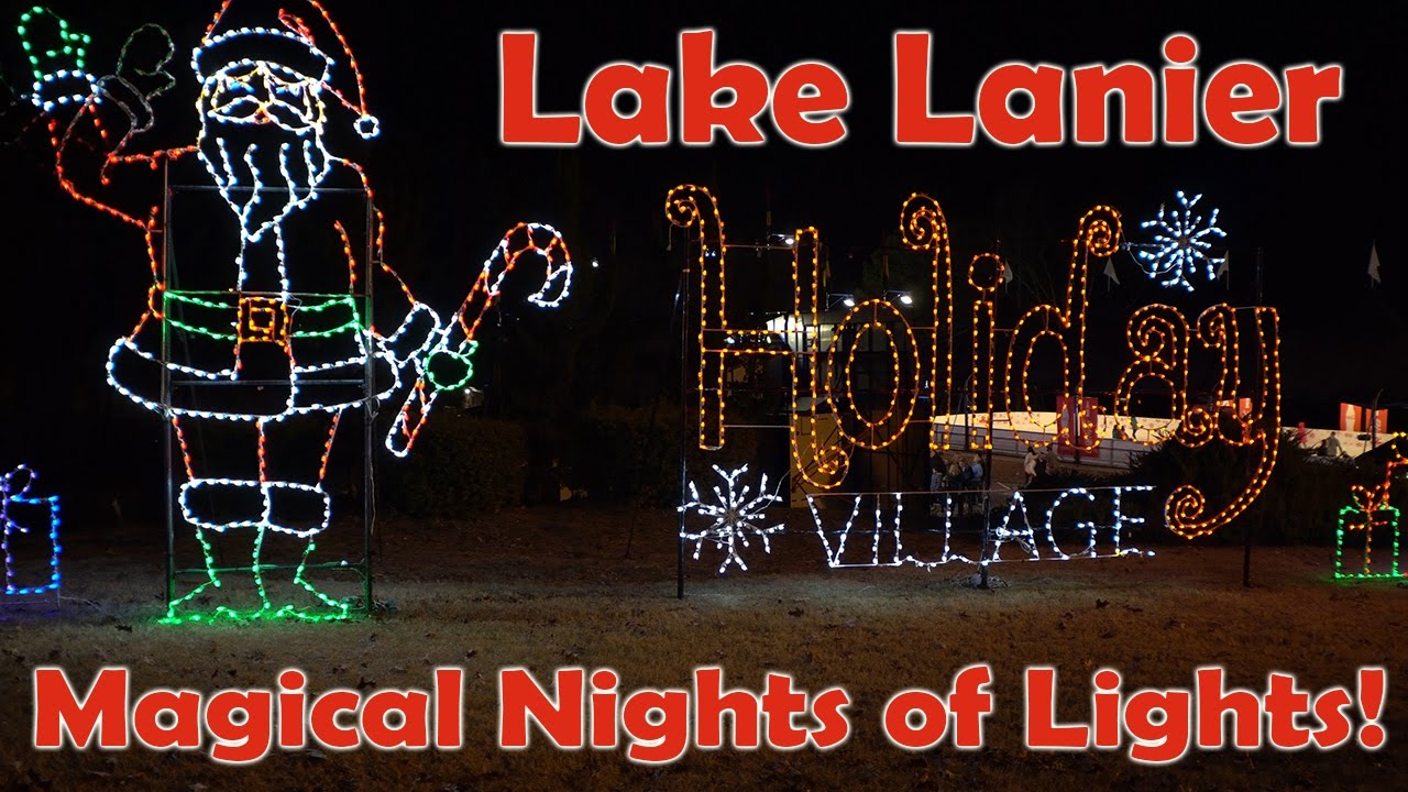 2016 lake lanier magical nights of lights adventure christmas lights