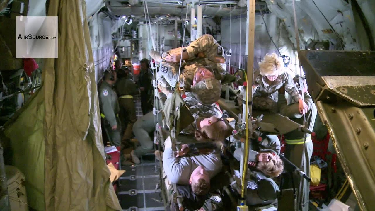 C-130 Hercules - Global Medic 2013 Aeromedical Evacuation in Flight
