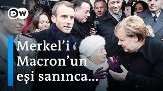 Yaşlı kadın Merkel'i Macron'un eşi sanınca - DW Türkçe