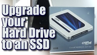 I Upgraded my Laptop Hard Drive to an  SSD (Crucial MX300 525GB) - How much faster is it now?