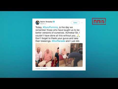 Sachin Seeks Blessings From Childhood Coach On Guru Purnima