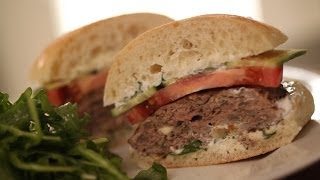 Kelly's Greek Lamb Burger