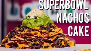 How To Make a Fully Loaded Nachos CAKE! With Cinnamon tortillas and cream cheese frosting!