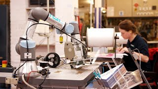 UR3 robots manufacturing party supplies