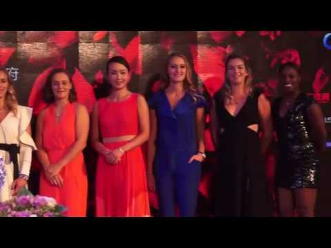 Zhuhai player party: WTA stars hit the red carpet in China