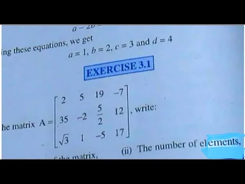 12 th (NCERT) Mathematics-MATRICES | EXERCISE-3.1 (Solution)