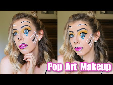 Fun and Easy Pop Art Makeup Halloween Tutorial