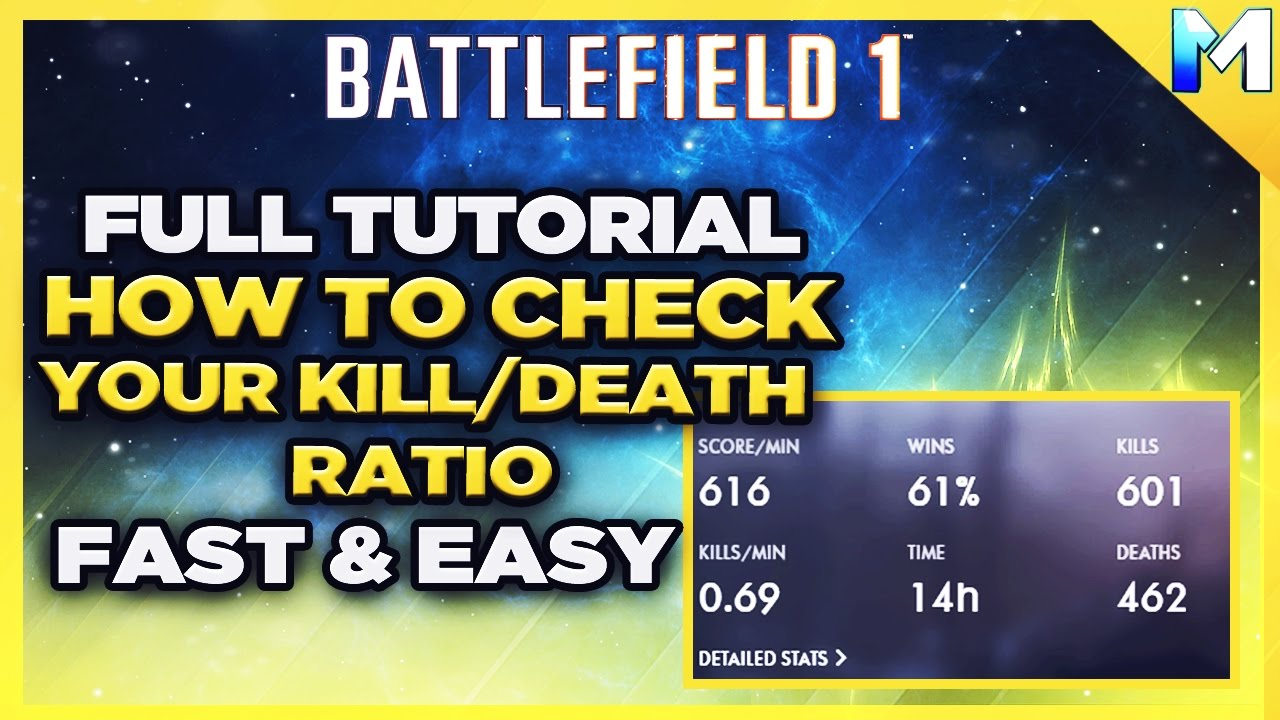 how to check kill death ratio in battlefield 1 how to. Black Bedroom Furniture Sets. Home Design Ideas