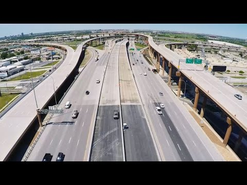 LBJ Express: a toll road with managed lanes