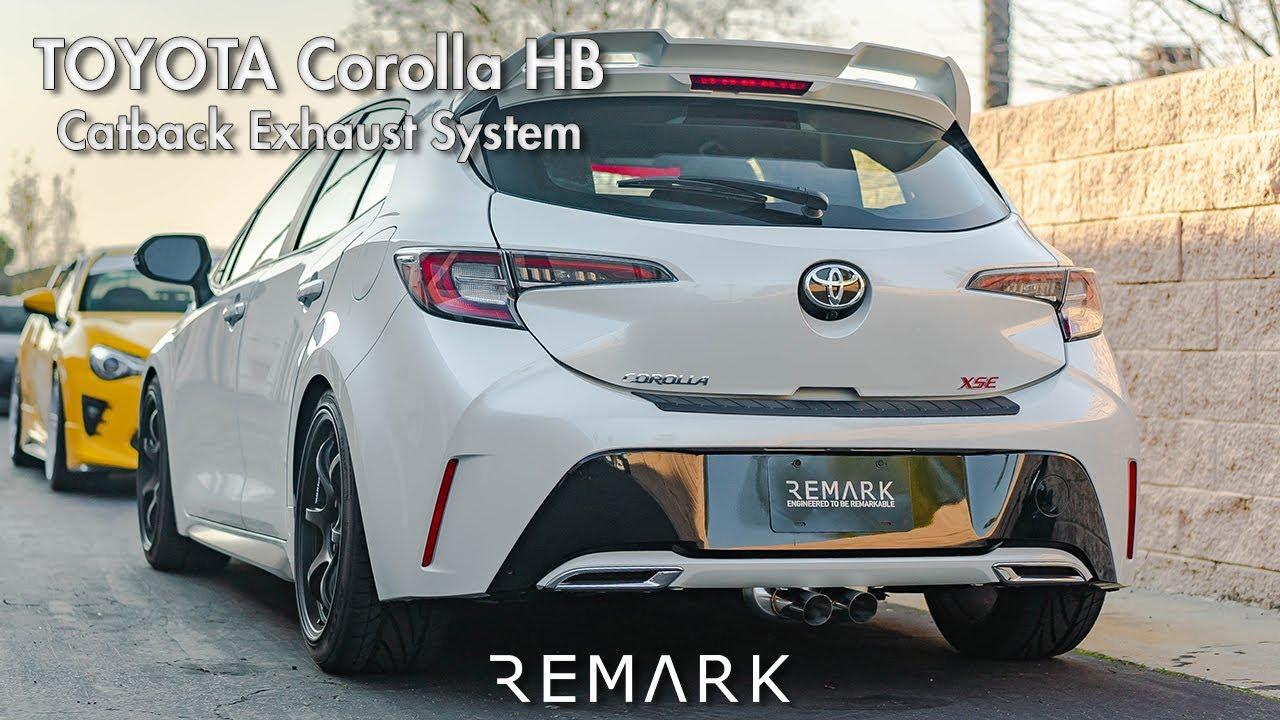 Remark Toyota Corolla Hatchback Catback Exhaust System