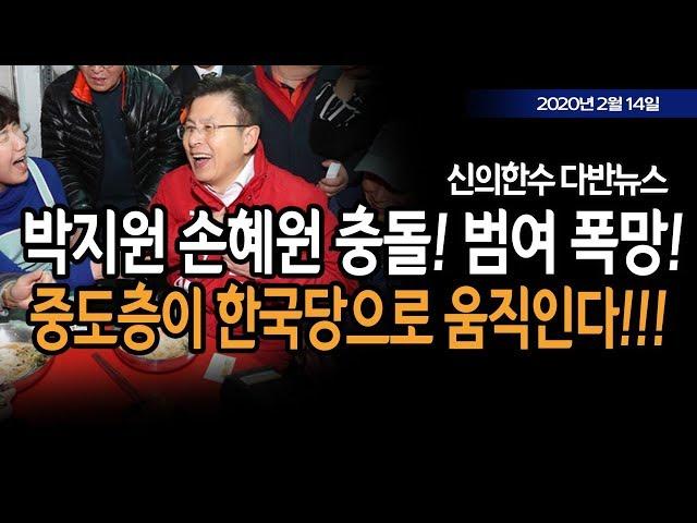 (다반뉴스) 박지원 손혜원 충돌! 범여 폭망! / 신의한수 20.02.14