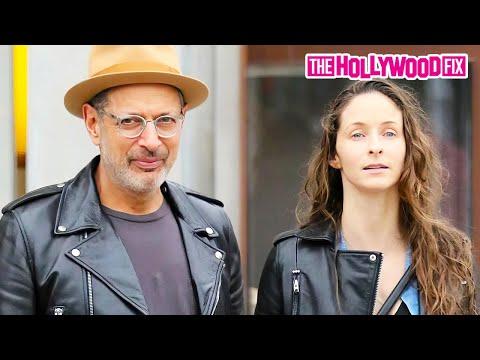Jeff Goldblum & Emilie Livingston Go Shopping On Rodeo Drive In Beverly Hills 1.19.16