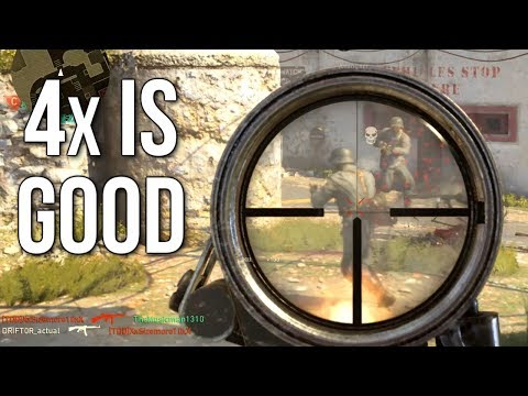 Call of Duty: WW2 4x is Good? Well, it's not bad!