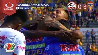 Resumen Lobos BUAP 0 - 3 Tigres | Clausura 2019 - Jornada 14 | Televisa Deportes
