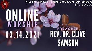 FCCIndia Live Worship 03/14/2020   FCCI St. Louis