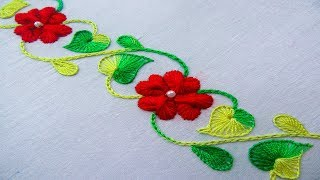 hand embroidery border line design, amazing border line design for dress