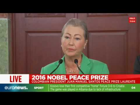 LIVE: Colombian president Juan Manuel Santos wins Nobel Peace Prize 2016