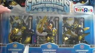 Skylander's Character Pack: Legendary Edition (L-Spyro, L-Chop Chop, L-Bash)