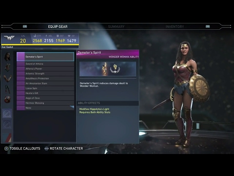 Injustice 2 - Wonder Woman  All Unlockable Abilities