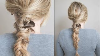 How To: Textured & Twisted Fishtail Braid with The Small Things Blog